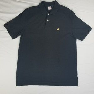 Brooks Brothers Black Polo Large Embroidered Logo
